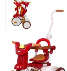 Детский трехколёсный складной велосипед iimo