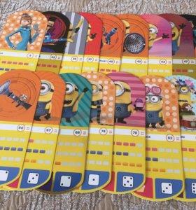 Карточки с миньонами обмен или продажа