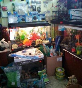 Новые аквариумы 200 литров и другие.