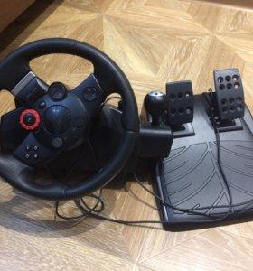 Приставка игровая руль+педали