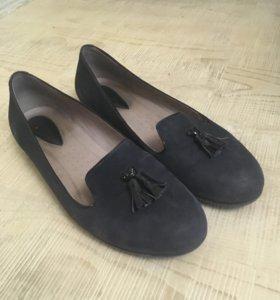 Туфли ecco замшевые