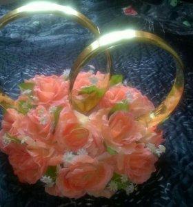 Украшение,Кольца свадебные на машину