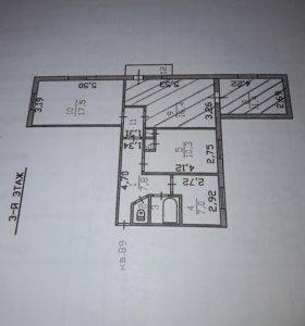 Квартира, 4 комнаты, 77.3 м²
