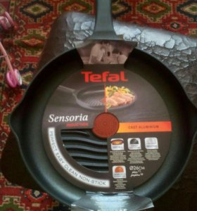 Сковорода гриль tefal sensoria 26 см