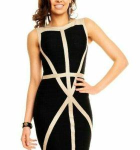 Трикотажное бондажное платье