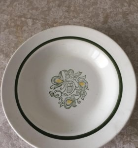 Тарелка суповая фарфоровая
