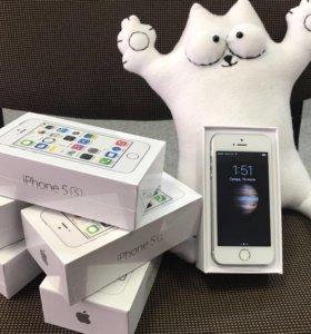 iPhone 5s 64gb silver / Магазин / Гарантия год
