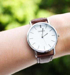 Часы Geneve brown/silver