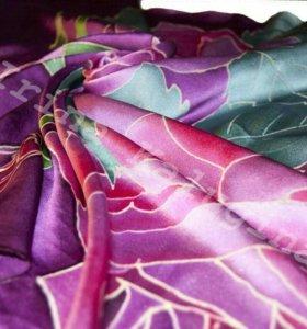 Шелковый платок ручной росписи