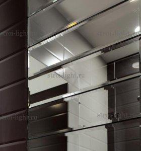 Зеркальная плитка с фацетом под кирпич