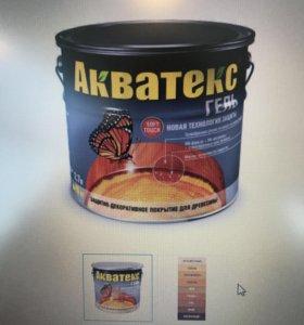 Пропитка для дерева Акватекс гель обработка сруба