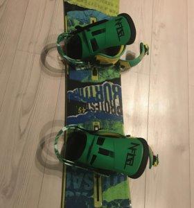 Комплект сноуборд,шлем,ботинки