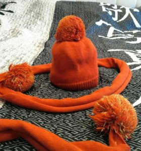 Шапка и шарф осенние