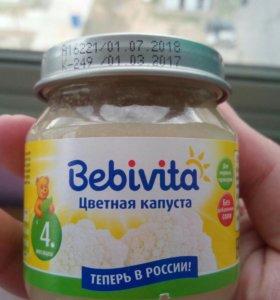 Овощное пюре Bebivita цветная капуста