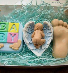 Мыло ручной работы, на рождение мальчика
