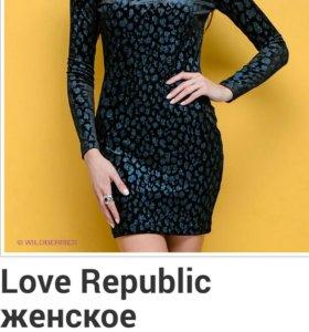 Бархатное платье Love Republic размер44-46