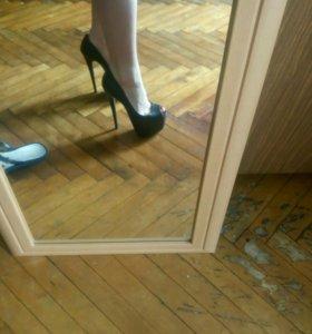 Туфли босоножки с открытым носом новые