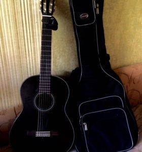 Гитара акустическая Yamaha C40-BL +аксессуары