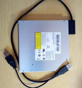 DVD-RW привод DS-8A8SH Black с адаптером