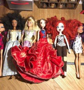 Лот 23 Куклы Барби братц монстер хай принцессы