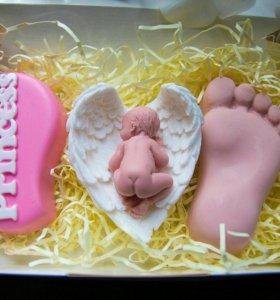 Мыло ручной работы, набор на рождение девочки
