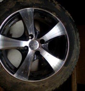 Шины Амтел(лето)+литые диски R15 4на100