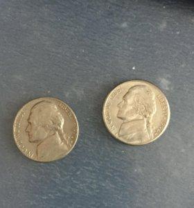 Монеты Liberty 1970 и 1994 года