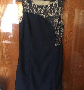 Тёмно-синее платье