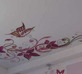 """Натяжной потолок """"Фотопечать на матовом потолке"""""""