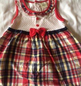 Летнее платье для девочки, 92-98 см, Cascatto