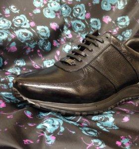 Ботинки -кроссовки из натуральной кожи