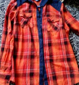 Рубашка в клетку (новая)