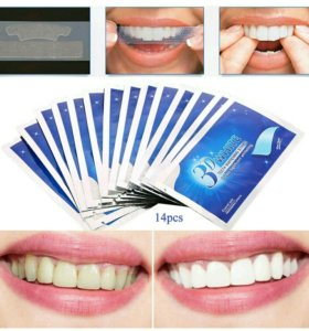 Отбеливающие полоски для зубов 3D White.