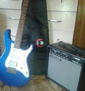 Гитара Yamaha и комбик Ibanez