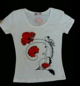 Новая женская футболка майка с принтом 3D маки