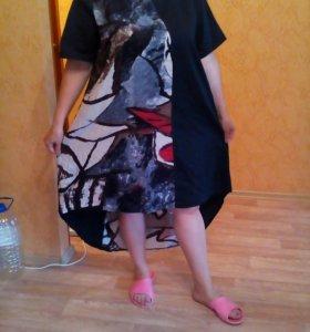 Платье под лен