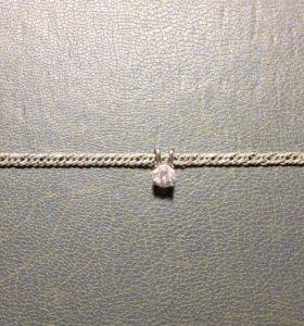 Браслет из серебра 925 с подвеской фианит
