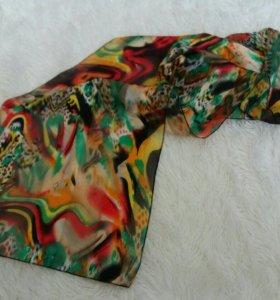 Женский шарф легкий разноцветный аксессуары