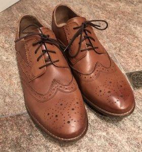 Почти новые кожаные мужские ботинки Asos