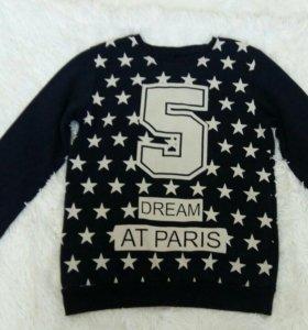 Женская толстовка пуловер свитер тёплая на зиму