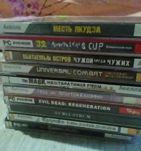 Куча игровых компьютерных дисков