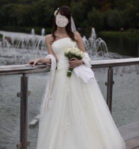Счастливое свадебные платье торг