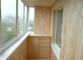 Обшивка балконов. Саун.