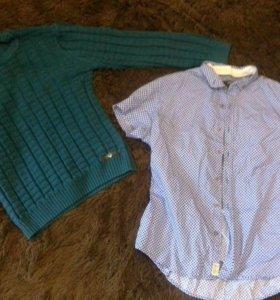 Свитер и рубашка