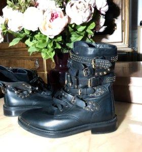 Кожаные новые ботинки Paolo conte