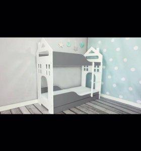 ДОМ двухъярусные кровати +матрасы