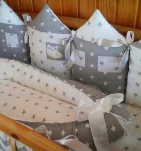 Бортики и гнездышко в кроватку