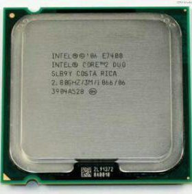Intel Core 2 Duo E7400 Wolfdale (2800MHz, LGA775,