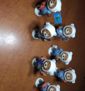 Коллекционные фигурки мишки Барни