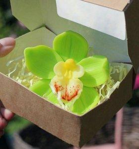 Мыло ручной работы, орхидея.